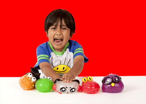 Ryan, the star of Ryan Toys Review, plays with his favorite ORB™ produced toys, Ryan's Bubble Pals.