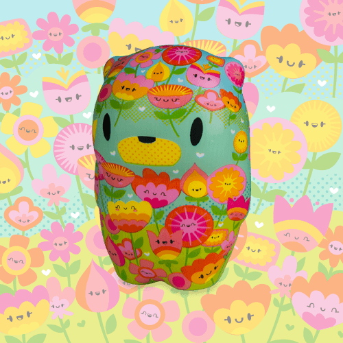 Soft'n Slo Squishies™ Designerz Snips is a squishy bear with a floral pattern.