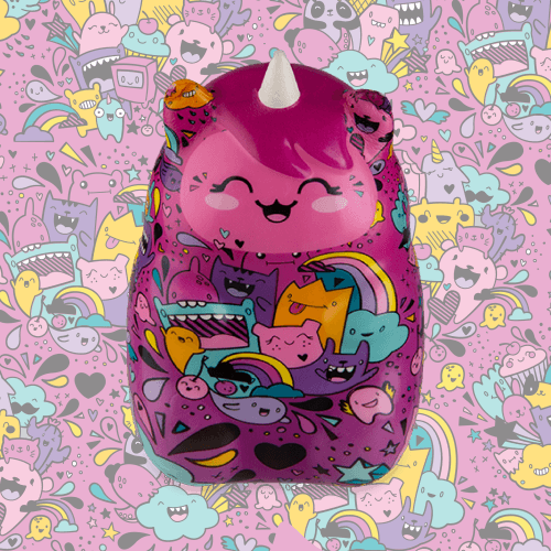 Soft'n Slo Squishies™ Designerz Uni is a patterned unicorn squishy.